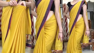 Weird Trick To Get Perfect Pleats On Heavy Sari-How To Wear Heavy Saree Perfectly: Love Your Look