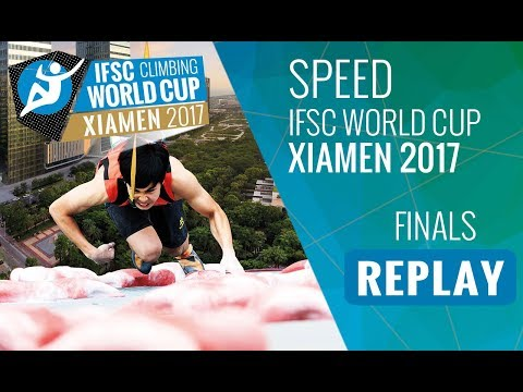 IFSC Climbing World Cup Xiamen 2017 - Speed - Finals - Men/Women