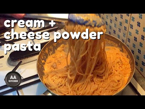 Cream Pasta With Sausage And Cheese Powder