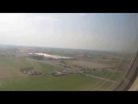 Partenza da Parma in aeroplano