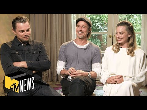 Leonardo DiCaprio, Brad Pitt & Margot Robbie on 'Once Upon a