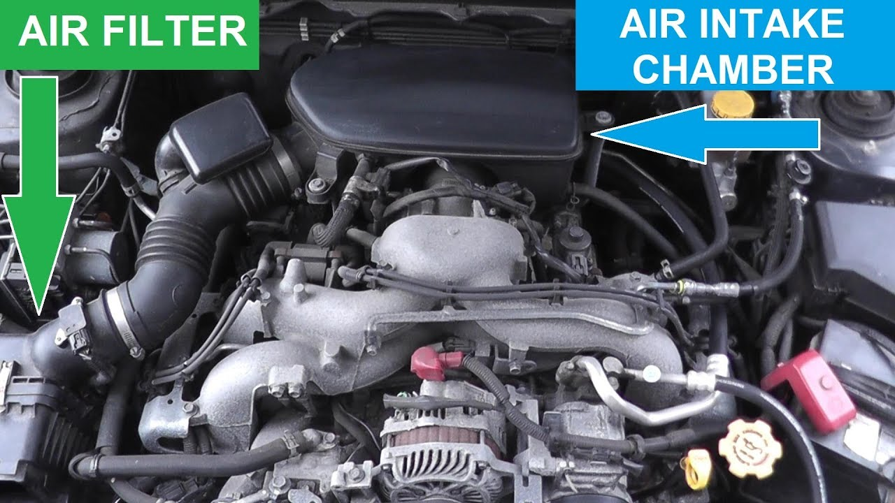 Subaru Air Intake Removal and Installation  YouTube