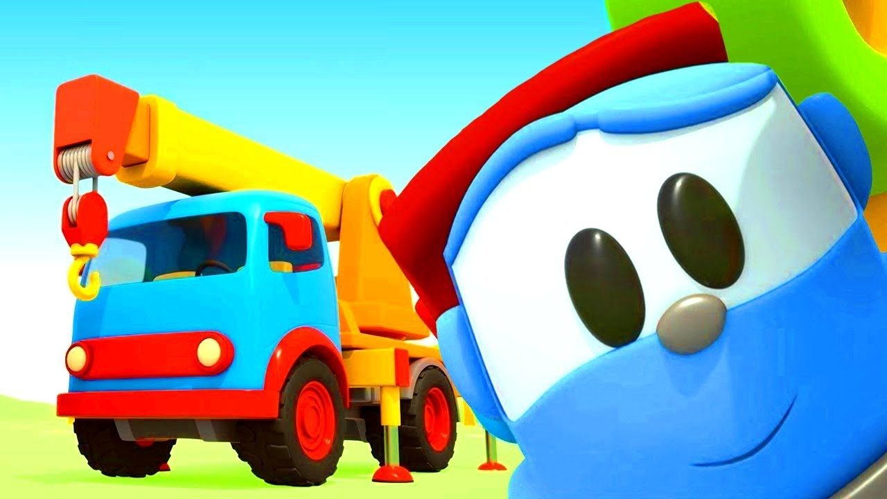 Leo the truck new episode in English - the big crane truck & cars for kids.