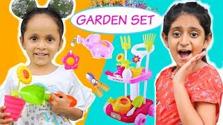 KIDS Pretend Play with Garden Set - CLEANING & GARDENING | #FunLearning #MyMissAnand #ToyStars