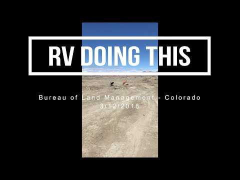 RV Doing This Explores Bureau of Land Management Area in Colorado