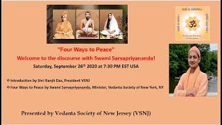 Four Ways to Peące by Swami Sarvapriyananda