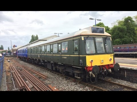 Last day of class 121 DMU Bubble cars 19th May 2017