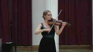 Menuhin Competition Repertoire 2010: Bach Sonata No. 2 in a minor, Andante and Allegro