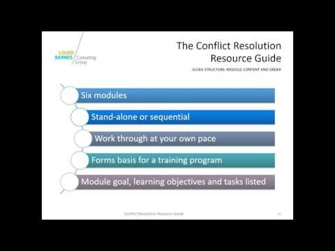 Conflict Resolution Resource Guide