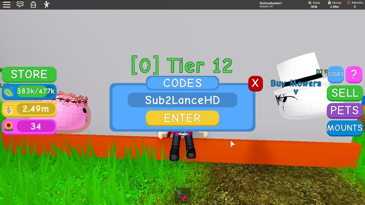 Roblox Lawn Mowing Simulator Codes Youtube