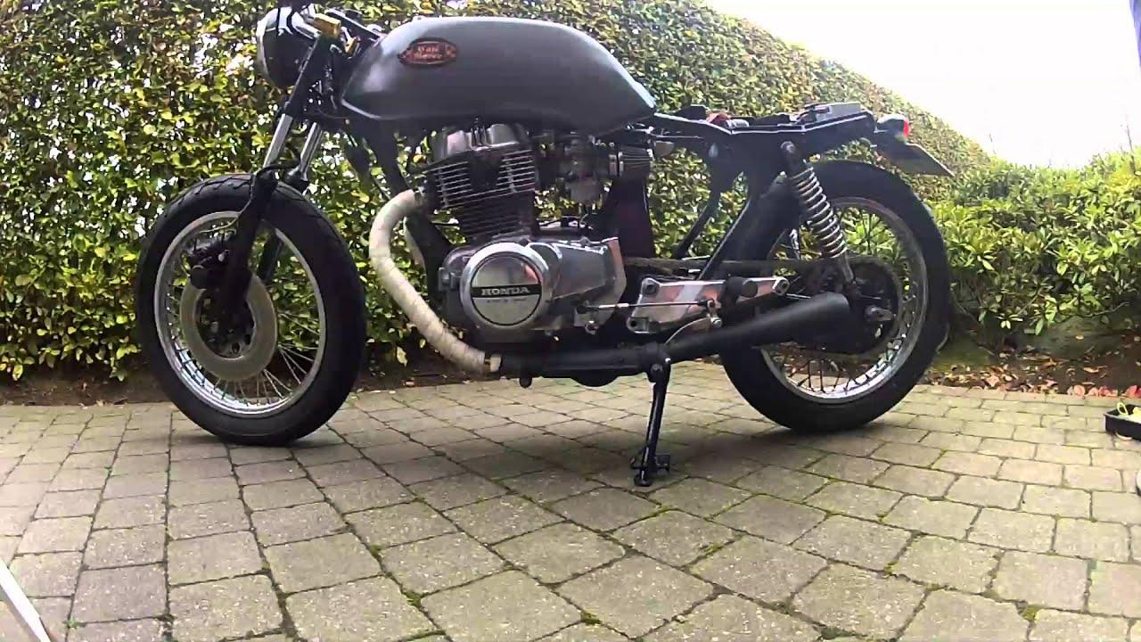 café racer project honda cb 400 n1978 - youtube