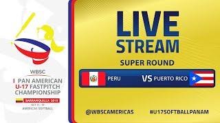 Peru v Puerto Rico - I U-17 Women's Softball Pan American Championship - Super Round