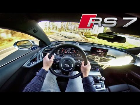Audi RS7 4.0 V8 TFSI POV Test Drive & EXHAUST SOUND by AutoTopNL