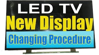 Replace LED TV Screen Carefully