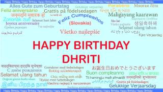 Dhriti   Languages Idiomas - Happy Birthday