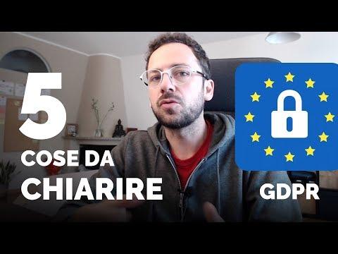 GDPR: 5 Cose importanti da chiarire una volta per tutte