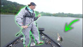 Topwater Fishing For MEGA BASS In The RAIN! (INSANE Day)