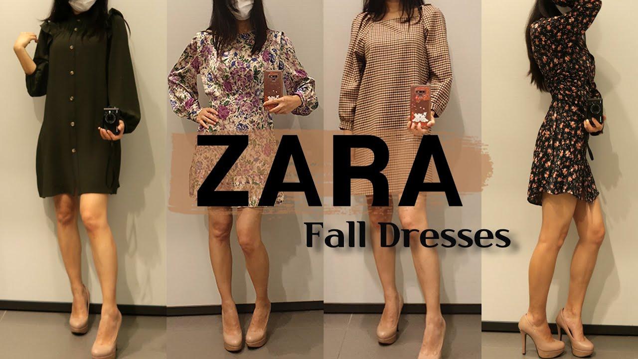 자라 가을 원피스 입어봤어요 :)   ZARA 가을 신상 쇼핑   키작녀 원피스 👗