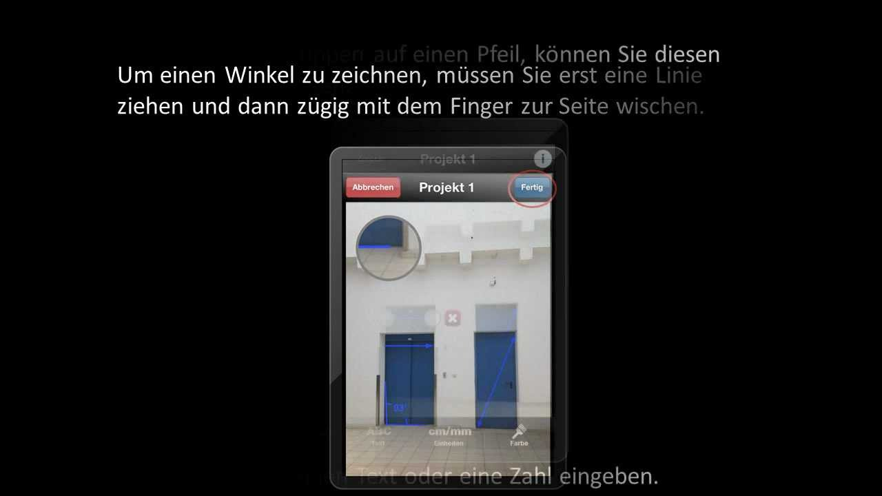 Smartphone app tutorial bosch toolbox aufmaßkamera