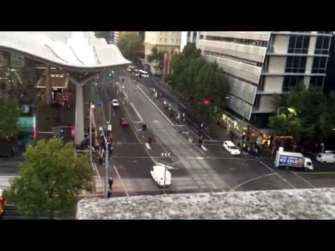Melbourne from the Grand hotel balcony