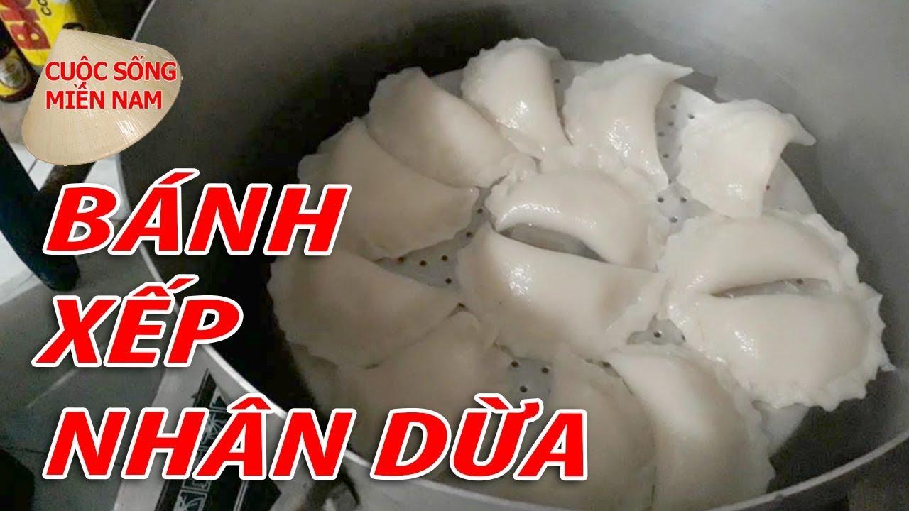 BÁNH XẾP NHÂN DỪA - MÓN NGON MIỀN TÂY | Nam Việt | VietNam Travel - Food