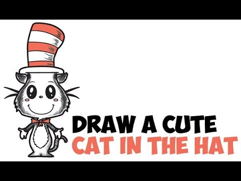 bd26a2dbb92 How to Draw The Cat in the Hat Easy Step by Step Drawing Tutorial for Kids    Beginners Cute