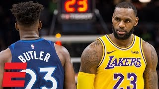 LeBron James outshined by Jimmy Butler as Lakers fall to Wolves | NBA Highlights