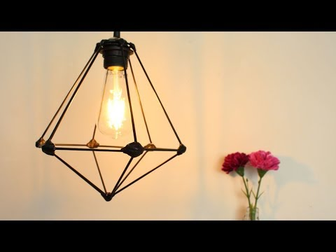 DIY Wooden Sticks Pendant Lamp