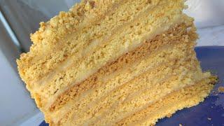 Медовик Медович.Медовый торт классический рецепт.Заварной крем.Торт рыжик.Торт медовик.