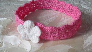 Вяжем повязку на голову крючком/ Knit headband crochet