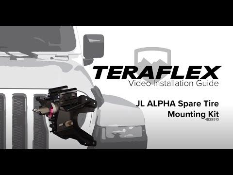 TeraFlex Install: JL Alpha HD Adjustable Spare Tire Mounting Kit