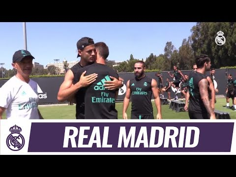 Álvaro Morata bids farewell to Real Madrid team-mates and staff