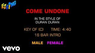 Duran Duran - Come Undone (Karaoke)