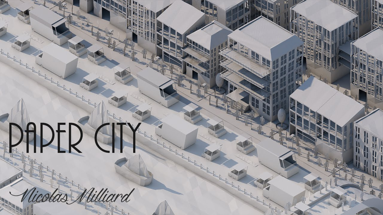 Speedart Paper City Low Poly Youtube