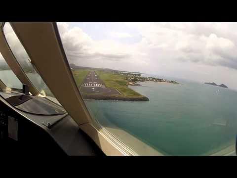 Falcon 900 Aproach and Landing - São Tomé e Príncipe