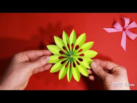 DIY flower - Very easy paper flower for Easter decorations.