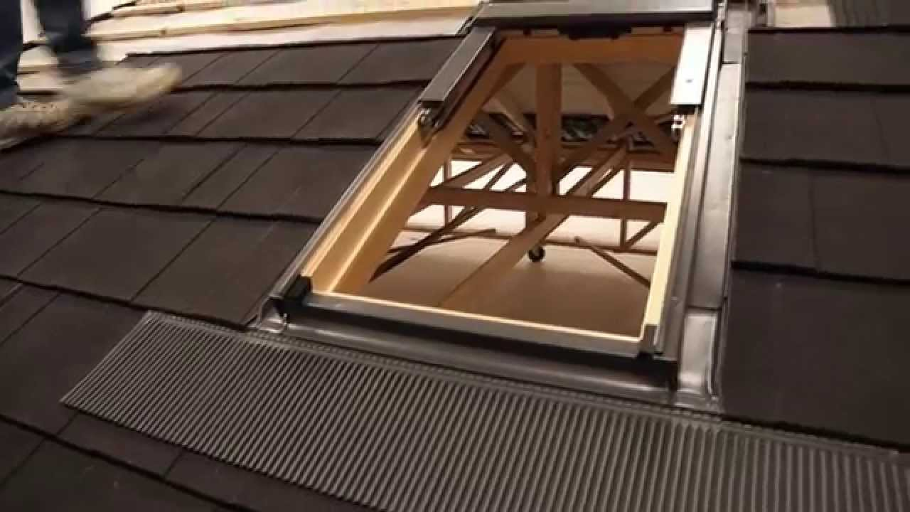 Fixing Installing Lightweight Roofing Velux Roof Window