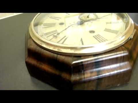 Ansonia 8 Day Octagonal Lever Wall Clock C1905