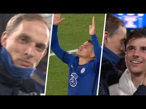 Huge full-time celebrations as Chelsea reach first Champions League final since 2012