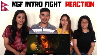 KGF Intro Fight Scene Nepalese Reaction Yash 🙏 Prashanth Neel Kannada Movie 2018
