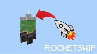 HOW TO MAKE A ROCKETSHIP IN Minecraft