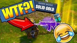 *NEW* PURPLE SCAR in SOLID GOLD MODE in FORTNITE: Battle Royale (Funny!)