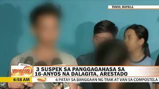 Dalagita, na-gang rape sa Maynila; 3 lalaki tiklo, 3 iba pa pinaghahanap | UKG