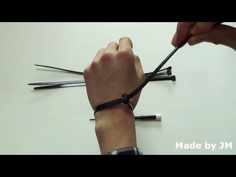 How to escape Zip tie(Cable tie) without cutting
