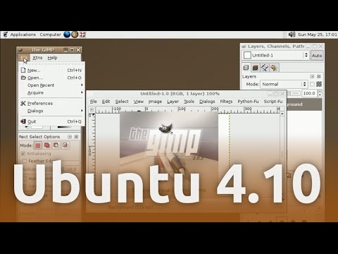 First Ubuntu release 4.10 Warty Warthog