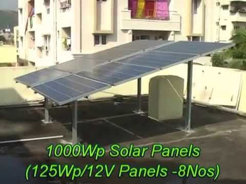 1 kw Solar Power System using at Akkayyapalem, Visakhapatnam