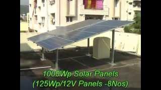 1 kw Solar Power System using at Akkayyapalem, Visakhapatnam