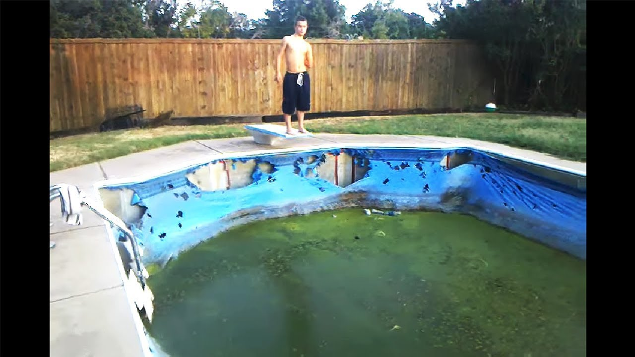 kid jumps in gross swimming pool for fun youtube. Black Bedroom Furniture Sets. Home Design Ideas