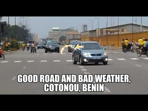 Good road and bad weather, Cotonou, Benin