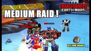 TRANSFORMERS: Earth Wars - RAID MEDIUM !